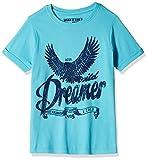 Flying Machine Boys' T-Shirt (FKTS5310_Scuba Blue_10 - 11 years)
