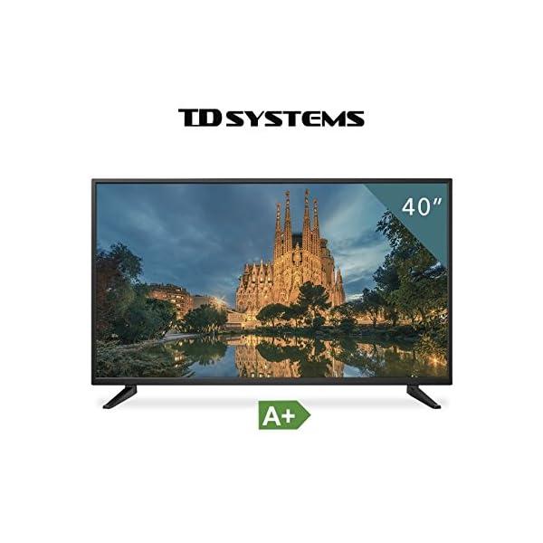 TV-40-Pouces-HD-LED-TD-Systems-K40DLM7F-Tlviseur-Full-HD-3x-HDMI-VGA-USB-lecteur-et-enregistreur-Reconditionn-Certifi