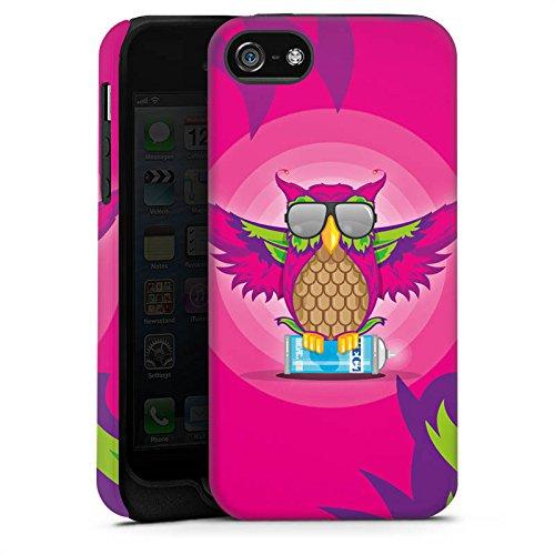 Apple iPhone X Silikon Hülle Case Schutzhülle Eule Pink Sonnenbrille Tough Case matt