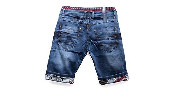 55303a09b6b730 Herren Jeans Shorts Bermuda Hose Walkshort Waschung, Farben:Blau, Größe  Shorts:W29: Amazon.de: Bekleidung