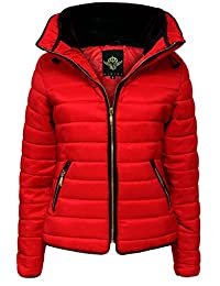 GLAM COUTURE NEW LADIES WOMENS QUILTED PADDED PUFFER BUBBLE FUR COLLAR WARM THICK JACKET COAT