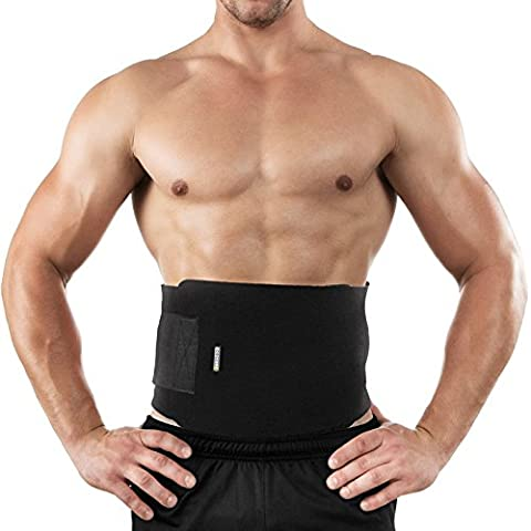 Bracoo Waist Trimmer, Neoprene Sweat Belt, Adjustable Caloric Burner, Sauna Band – Increases Core Stability & Metabolic Rate while Shedding Excess Weight