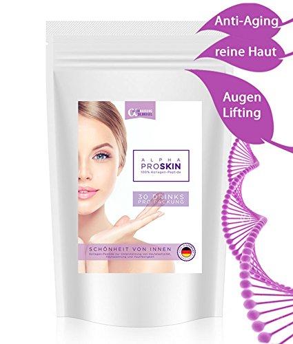 ANTI-AGING 100{1fcf96a327165445b3a4e5048e567f196c412235793cd7ebbb81ae0d6c227f45} KOLLAGEN-PULVER 300g ✓ BESTE Lösung gegen Haut-Falten Augen-Ringe AKNE Pickel Mitesser Cellulite ✓ hochdosiert ✓ glatte gesunde reine Haut in 30 TAGEN FALTENFREI | schöne Haut von Innen für Gesicht & Körper | Hautbild verfeinern Bindegewebe straffen Feuchtigkeits-spendend Haut-Straffung Fältchen glätten Poren verkleinern Mimikfalten & Augen-falten loswerden Gesichts-Verjüngung porenverfeinernd | klare FRISCHE junge Haut OHNE Altersflecken Hautprobleme Akne-Narben Rötungen