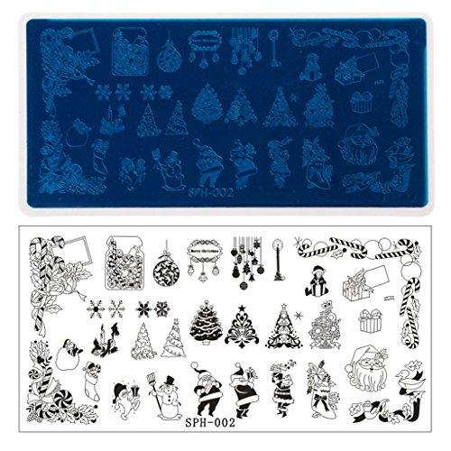 Weihnachts-Halloween-Design-Nagel-Kunst-Bild, Das Platten-Maniküre-Schablonen-Werkzeug Stempelt