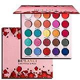 DE'LANCI Lidschatten-Palette Matte Glitzer-Prince & Rose, Eyeshadow Palette Hochpigmentierte Glitter...
