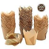 Tulip Muffin - Pirottini di carta per cupcake, 200 pezzi
