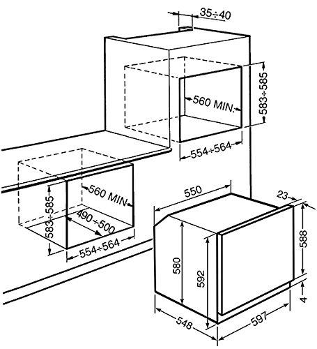 Smeg SF800PO Forno elettrico 72L A-10% Crema forno