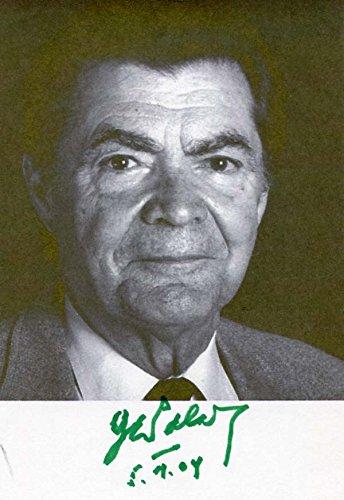 George Emil Palade original Autogramm/Autograph/signiert
