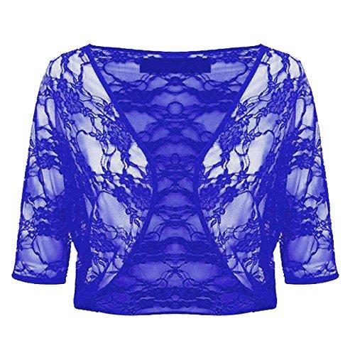 Generic - Boléro - Femme Multicolore Bigarré Taille Unique Bleu - Bleu marine