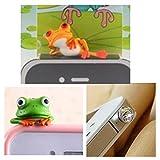 Handyanhänger frog type 2 Kopfhörerstöpsel Frosch Nr.2 Staubschutz Stoepsel Kappe Handyschmuck Accessoire Anti Dust Plug für iPhone 3, 4 / 4S // 5 / 5S // iPad 4 // iPad Mini Retina // iPad Air // iPod Touch 5G // iPod Nano 7G // Samsung Galaxy S2 // S3 // S4 // S3 Mini // S4 Mini // HTC One // Sony Xperia Z