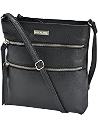 Estalon Leather Crossbody Bag Cross Over Purse Messenger Bags For Women Cross Body Shoulder Handbag - B0799LNG93