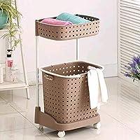 LEIU Cubo de ropa sucia plástico grande cesta rejilla cesta de lavadero ropa almacenamiento cesta ropa
