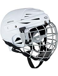 Casco de hockey sobre hielo kayro Worker Blanco con rejilla de protección de la cara, S 50-54