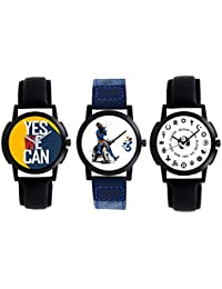 A R Sales Pack Of 3 Analog Watch For Mens And Boys 2-4-5