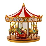 UniqueGift Herr Weihnachten Very Merry Musical Carousel–30,5cm Mr. Weihnachten Musik Rentier Karussell–LED Beleuchtet Musik Box–Weihnachten Weihnachtslieder und Classics