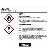 Gefahrstoffetikett G006: Calciumchlorid Größe: 14,8 x 10,5cm für Behälter mit einem Fassungsvermögen bis 50 Liter