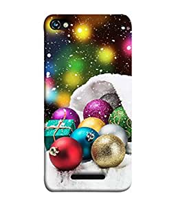PrintVisa Designer Back Case Cover for Micromax CanvasHue2A316 (Christmas Blue Gold Winter Celebration Greeting)