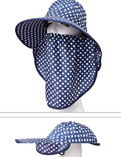Chapeau de soleil d'été Été féminin Grandes corniches chapeau de soleil Couvrez le visage Anti-UV Protéger le cou Pliable Crème solaire Pour les voyages de plage sortants ( Couleur : 4 ) 1