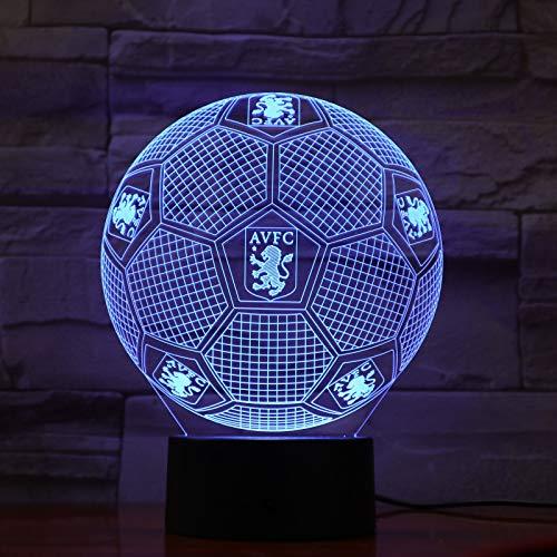 2019 Avfc Fussball 3d Led Lampe Fussball Aston Villa Fussball