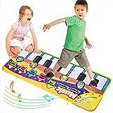 Faburo Tappeto Musicale, Bambini Piano Mat Tastiera Danza Stuoia Strumento, Bambini Coperta da Gioco Tocco Mat Educativo Giocattolo(70 * 30cm)