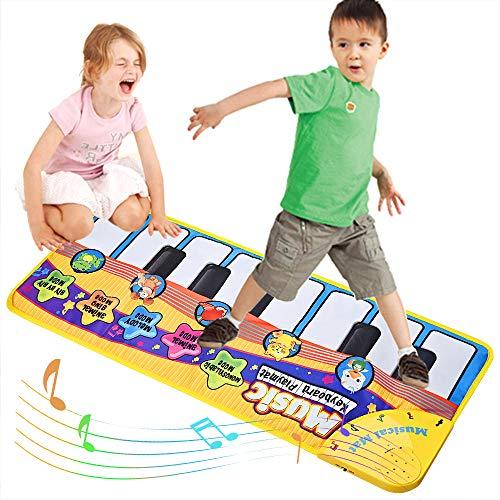 Faburo Tappeto Musicale Bambini Piano Mat Tastiera Danza Stuoia Strumento Bambini Coperta da Gioco Tocco Mat Educativo Giocattolo
