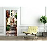 Poster Autoadesivo porta e pareti - MALLORCA VICOLO - murale foglio di porta