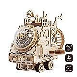 ROKR Laser Cut 3D Puzzle di legno-Handcraft Music Box Kit-Modello meccanico Kit Giocattoli per bambini o adulti-Miglior regalo per-compleanno / giorni di Natale-Space Vehicle