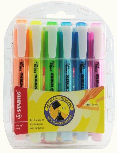 stabilo-swing-cool-275-6-3-rotulador-fluorescente-a-base-de-agua-punta-biselada-de-1-4-mm-6-unidades
