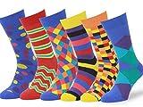 Easton Marlowe 6 Paar Fein Gemusterte Kleidersocken, 6 paar, 6pk #4, mixed - bright colors, Gr. 39 - 42 EU Schuhgröße