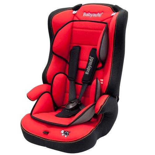 Babyauto Nico - Silla de seguridad infantil, grupo 1/2/3, color rojo