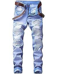 Dihope Homme Vintage Rétro Jeans Pantalon de Travail Militaire Cargo Pants  Casual Trousers en Denim sans 7d4cb74f31b7
