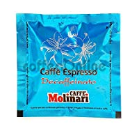 Molinari DECAFFEINATED ESE espresso coffee paper pods 44mm x 25