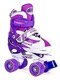 SMJ sport Kinder Rollschuhe CYNTIA weiß Gr. 34-37 verstellbar