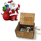 XIN-JI Pure Main-Classique Game of Thrones boîte à Musique Main-boîte à Musique en Bois Artisanat créatif en Bois Cadeaux