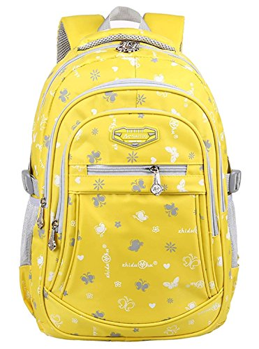 Ericcay Kinder Jungen Mädchen Rucksack Schulrucksäcke Daypacks Schultasche Grundschule Backpack Kinderrucksack Tagesrucksack (Color : Gelb)