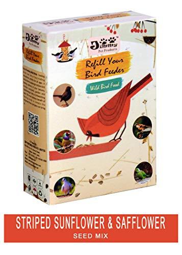 JiMMy-Striped Sunflower Seed & Safflower-Seeds for Birds- 400g Pack