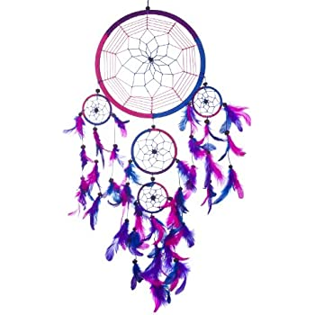 large dream catcher purple pink turquoise dreamcatcher kitchen home. Black Bedroom Furniture Sets. Home Design Ideas