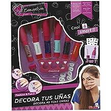 Creative - Set de decoración, 6 lapcies y 6 aplicadores, color rosa (Simba 5957534)