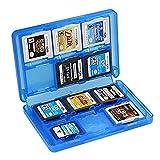 KASOS 3DS Spiele Hülle 22 Spiele und 2 SD-Karten Hinein für 3DSll ,3DS ,3DS XL ,DS-Spiele, 2DS- 3DS- ,DSi XL und DS-Spiele, Kunststoff Transluzent Blau