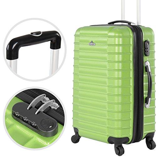 Vojagor 4 tlg. Trolley Koffer Hartschalen Set - Reisekoffer mit 4 Rollen 360°, S,M,L,XL (ineinander stapelbar) Farbwahl - 3