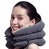 MEDIZED Inflatable Cervical Neck Traction Device Improve Spine Alignment Reduce Neck Pain Cervical Collar Adjustable GREY Colour