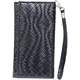J Cover A5 I Bali Leather Wallet Universal Pouch Cover Case For Asus ZenFone 4 Max Pro Black