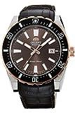 Orient Herren Analog Automatik Uhr mit Leder Armband FAC09002T0