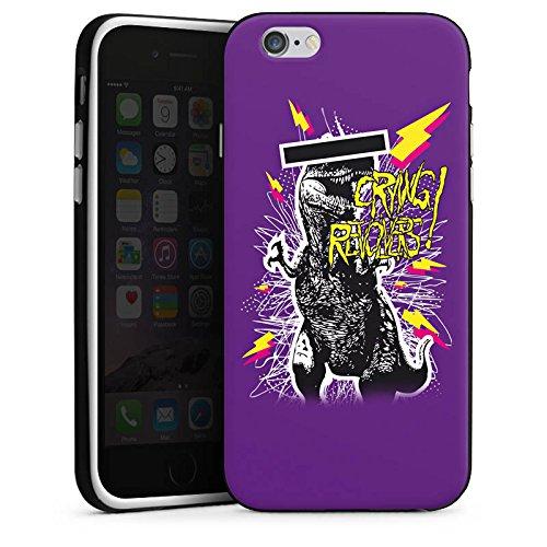 Apple iPhone X Silikon Hülle Case Schutzhülle T-Rex 90er Dinosaurier Silikon Case schwarz / weiß