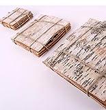 8 Stück Birkenrinden Platten quadratisch im Bündel geschnürt. Seitenlänge 20cm