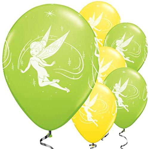 Unbekannt Qualatex 18711Disney Tinkerbell 27,9cm Rund Gelb & Lime Grün Latex Luftballons 25CT