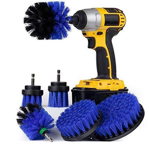 MMLC Drill Brush fliesenreiniger bürste Elektrisch,Power Scrub bürste bohrmaschine bürstenaufsatz für Auto, Teppich, Badezimmer, Holzboden, Waschküche exc 6Pc (Blue) -