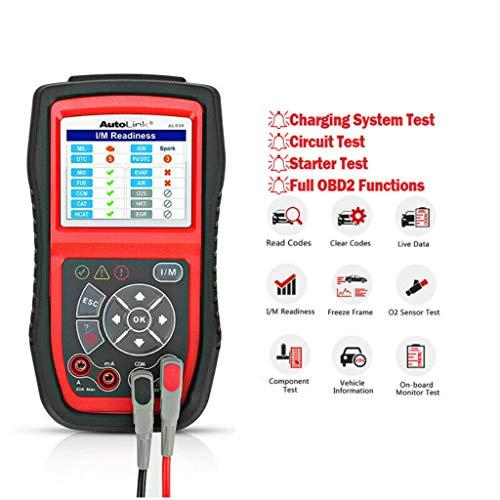 Autel obd2 Diagnosegerät, AL539 vollständig OBD Funktion (Fehlercode lesen/löschen Speicherndaten, Auto Info), Stromkreistest, Starttest und Ladesystemtest für 12V-Autobatteriesysteme
