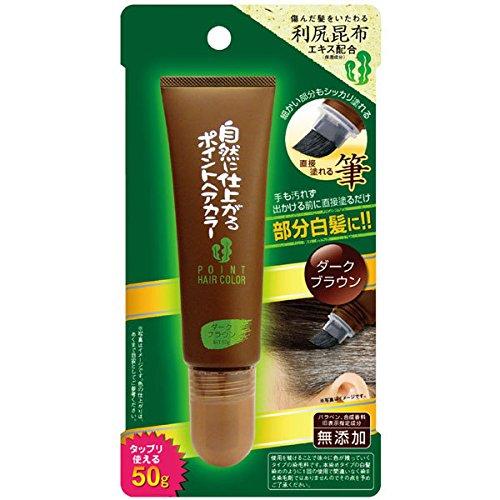 Blaine Cosmos 100% naturel et sans produits chimiques japonais Rishiri Konbu Extraits d'algues marines (Hokkaido Japon Rishiri Île Mer varech) Cheveux Teinture Brosse Traitement de couleur marron foncé 50 g (49,9 gram) point Couleur de cheveux Touch-Up Root Cheveux Gris Japan Import fabriqué au Japon