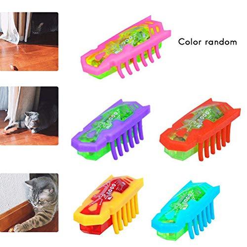 EisEyen Elektrische Spielzeugwurm KatzenSpielzeug Interaktive Spielzeug für Katze, Hunde und Baby